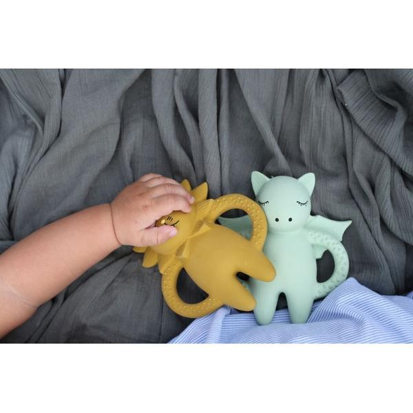 Natural Rubber Baby Teething Toy | Konges Sloejd Lion Soother - BONORDIC