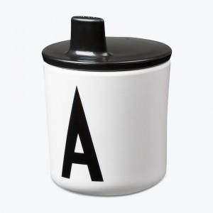 Non-Spill Melamine Sippy Cup with Detachable Lid_Alphabet Cup A-Z by Design Letters