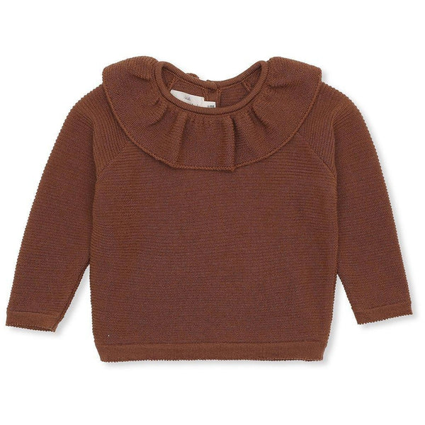 Konges Sloejd Merino Wool Fiol Collar Knitwear - Toffee