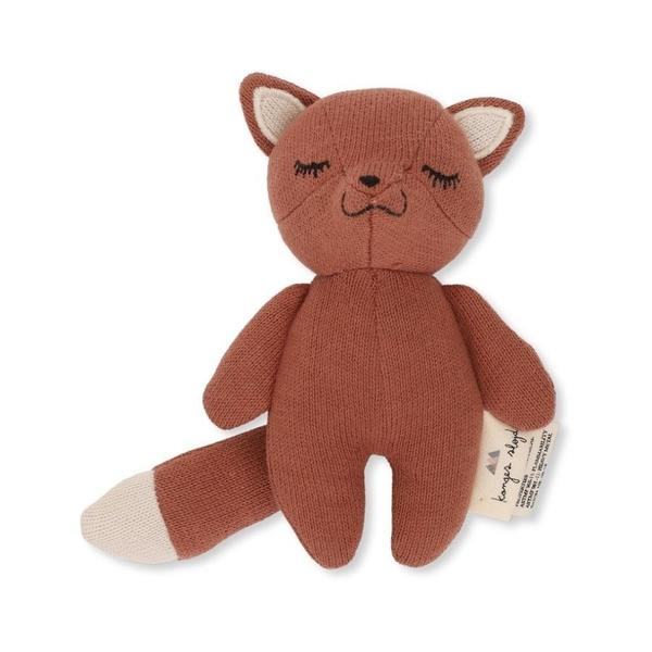 Konges Sloejd Fox Baby Rattle in Organic Cotton