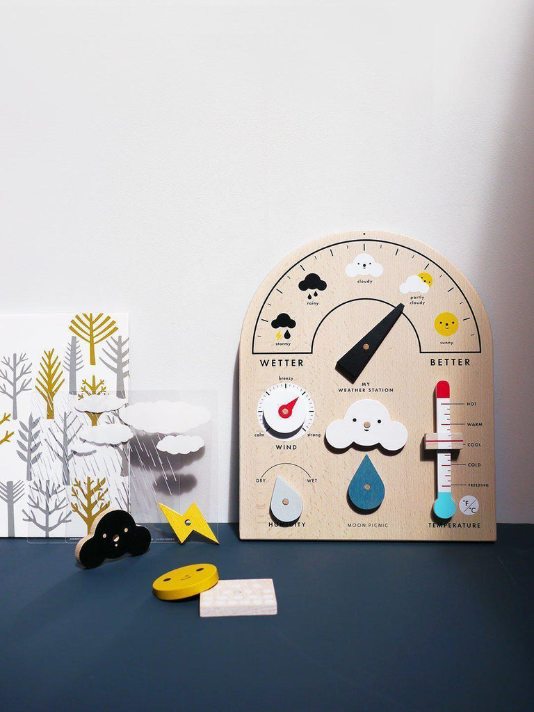 Moon Picnic My Weather Station Wooden Toy | Educational Toys