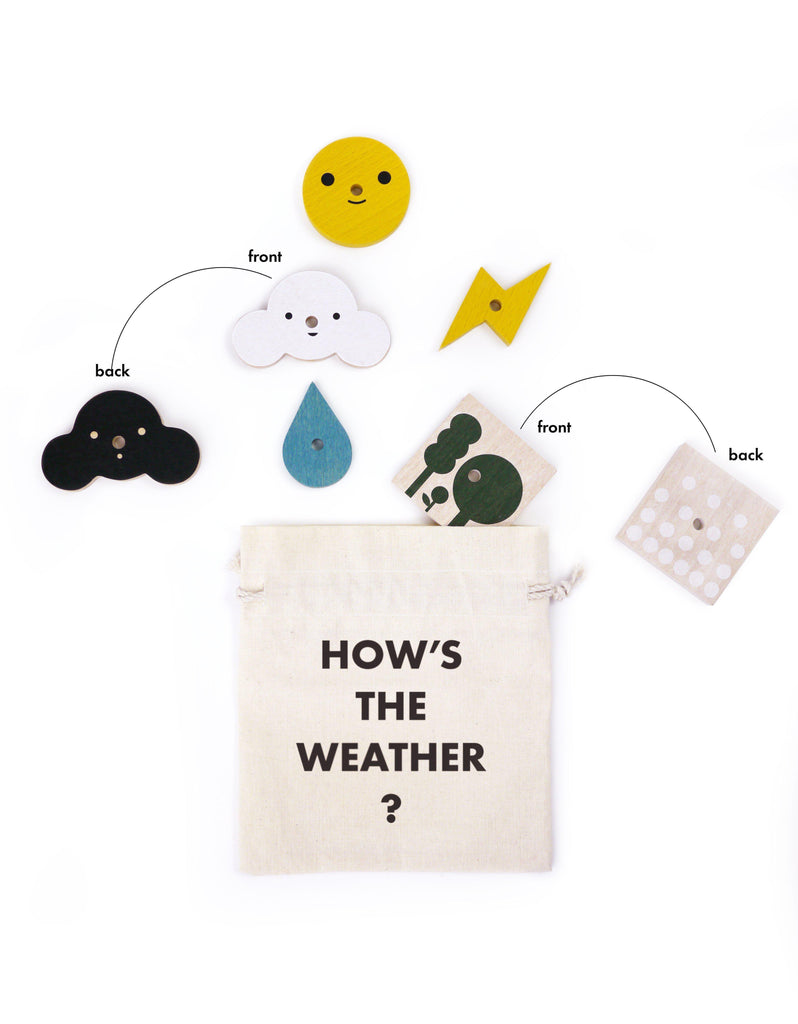 My Weather Station Wooden Toy-Moon Picnic-BoNordic