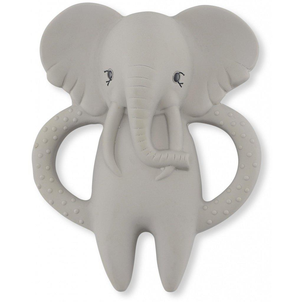 Natural Rubber Baby Teething Toy | Elephant Soother Konges Sloejd
