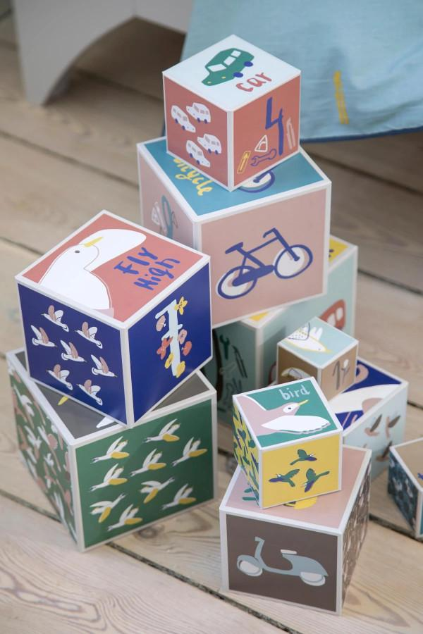 First Baby Toy - Nesting Stacking Blocks by Sebra - BONORDIC