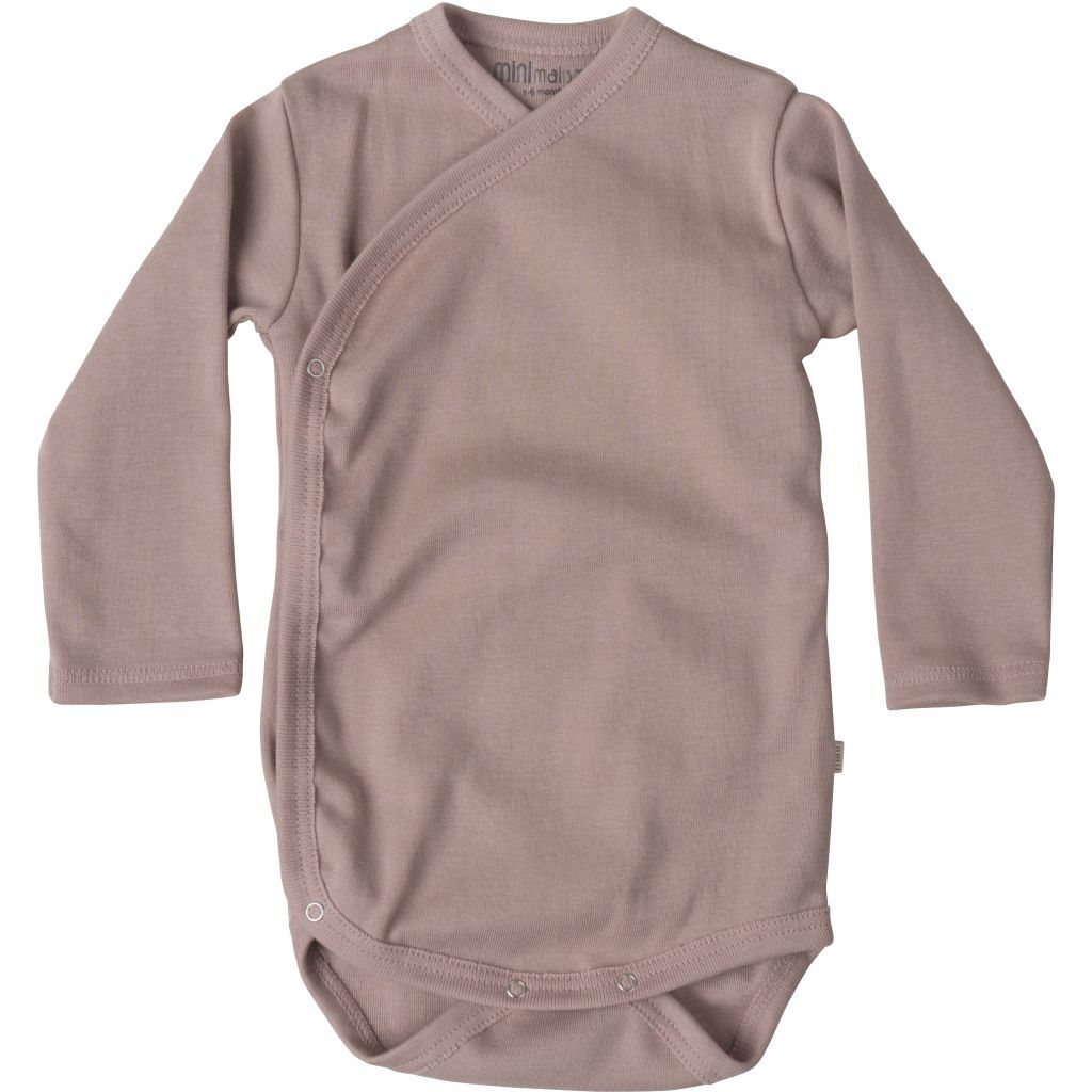 New Baby Cross-Over Body - Dusty Rose-Minimalisma-BoNordic