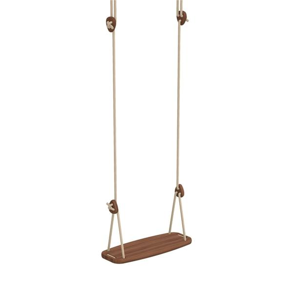 Lillagunga Outdoor Children's Swing In Walnut | Designed and made in Finland