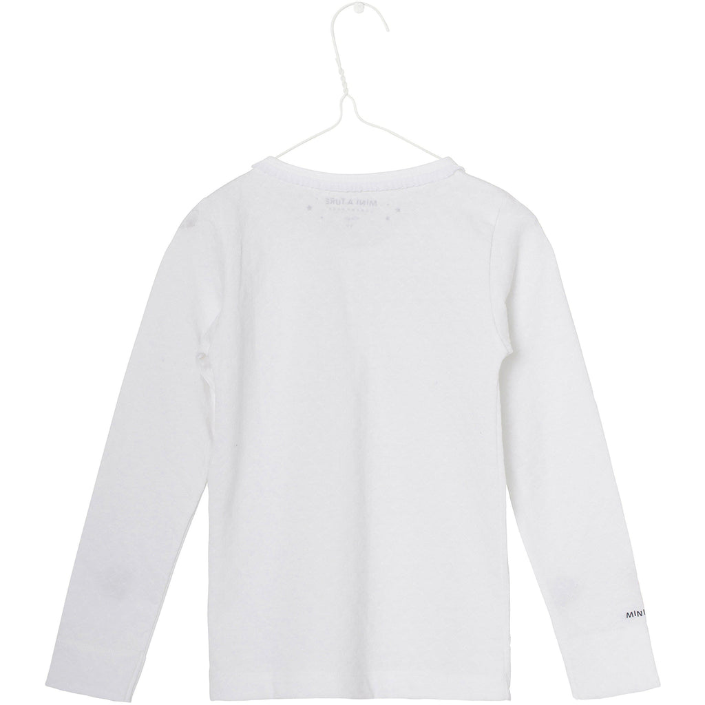 MINI A TURE ELIANOR GIRLS WHITE TOP WITH PLEATS - BONORDIC