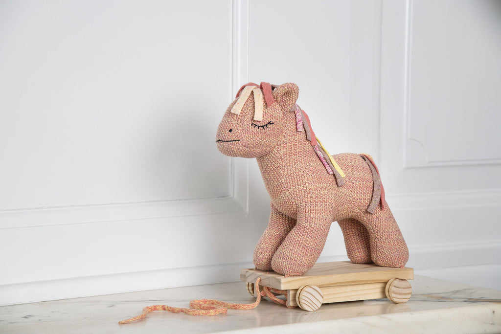 Smallstuff Pull-Along Horse - Wooden Pull-Along Toddler Toy