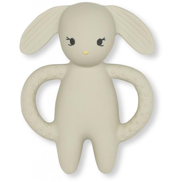 Konges Sloejd Rabbit Teether | Natural Rubber Baby TeetherToy