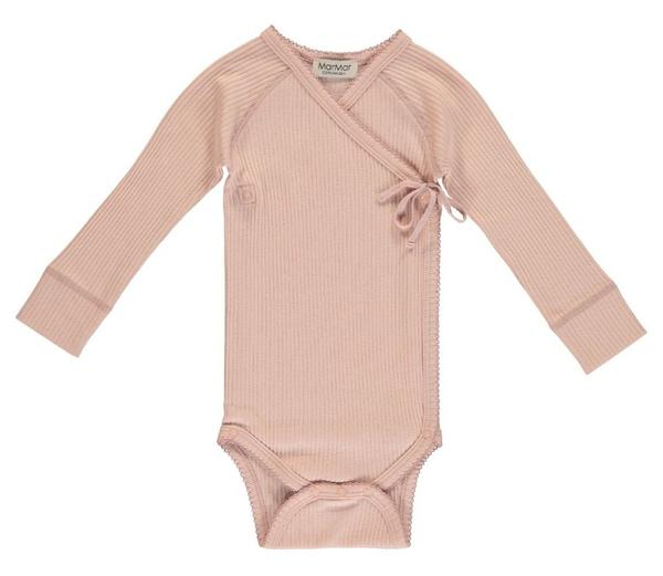 MarMar New Baby Cross-Over Body in Rose | Newborn Baby Girl - BONORDIC