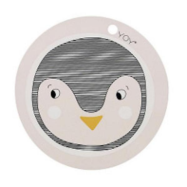 OYOY Living Mini Wipe Clean Silicone Kids Placemat - Penguin - BONORDIC