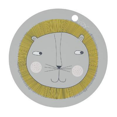 OYOY Living Wipe Clean Silicone Kids Placemat - Lion - BONORDIC