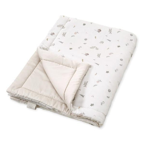 Gift Set: Swaddle and Leaves Rattle - Fawn