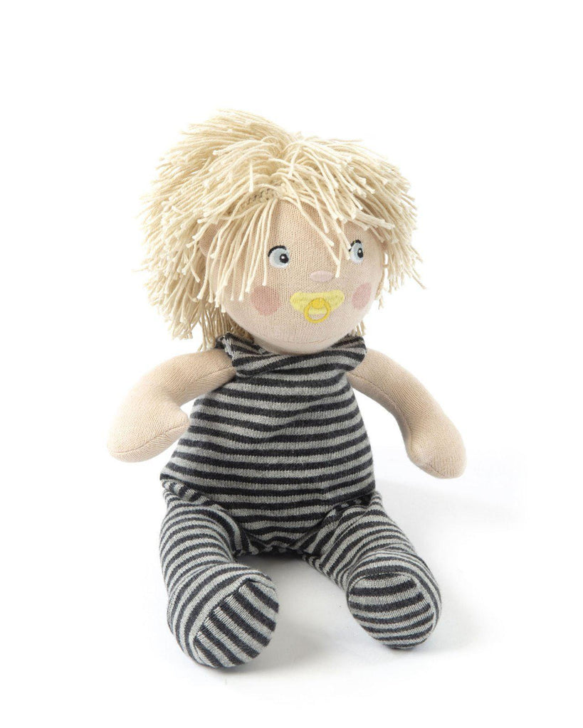 Knitted Soft Toy Doll Charlie-Smallstuff-BoNordic