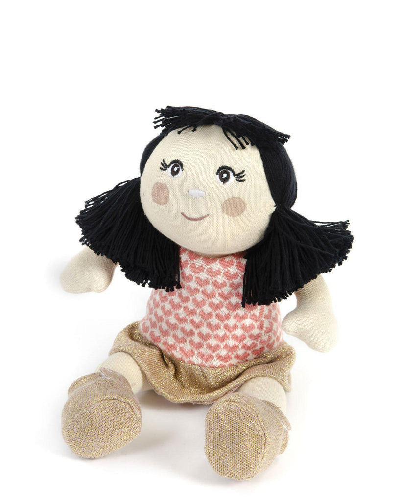 Knitted Soft Toy Doll Ying-Smallstuff-BoNordic