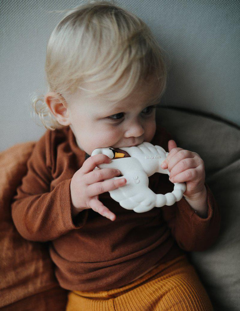 Swan Teether - Natural Rubber-Natruba-BoNordic