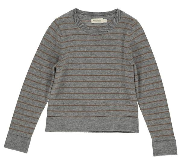 MarMar Copenhagen Tio Boys Wool & Cotton Jumper Cacao Stripe - BoNordic