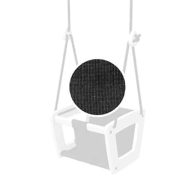 Toddler Swing In White Birch with Fabric Seat (Choice of Colour)-LILLA GUNGA-BoNordic