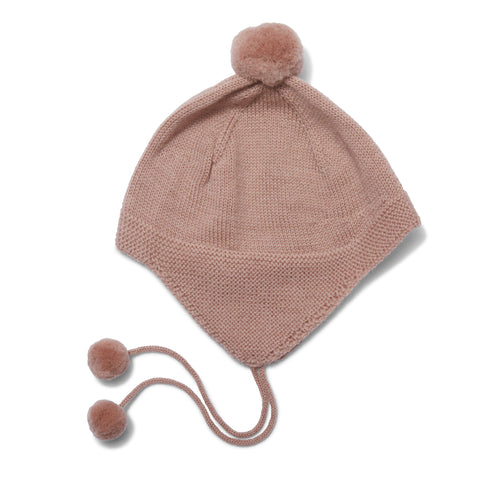 Newborn Baby Bonnet - Dusty Rose