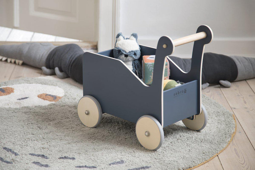 Best Sturdy Wooden Baby Walker and Trolley_The Sebra Walker