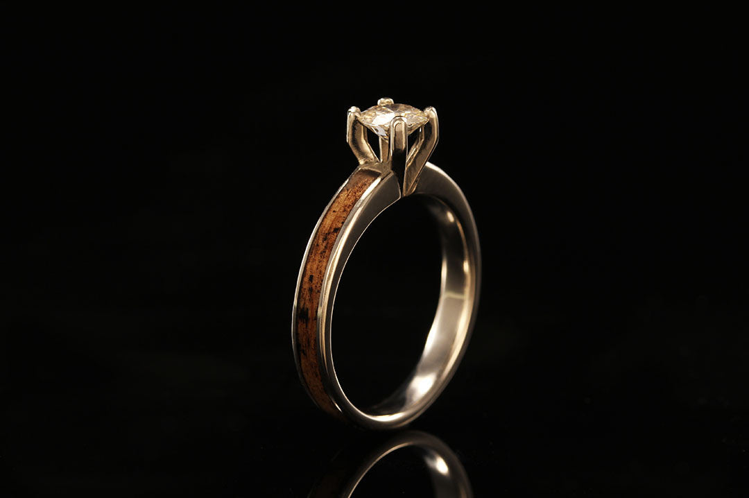 Jack Daniels Wood And Gold Ring