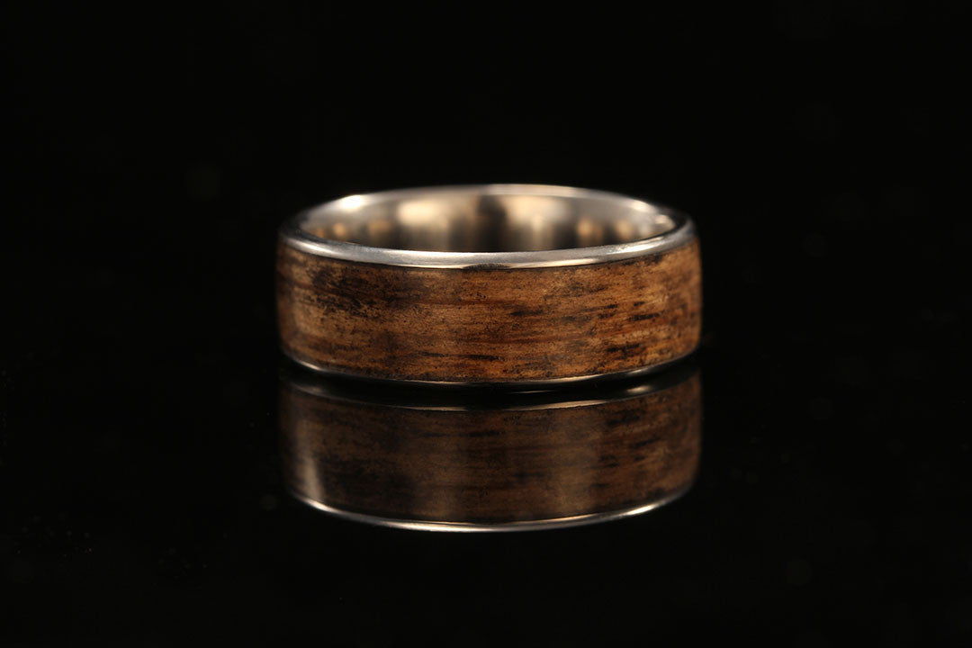 Titanium And Wood Band Jack Daniels Whiskey Barrel Chasing Victory