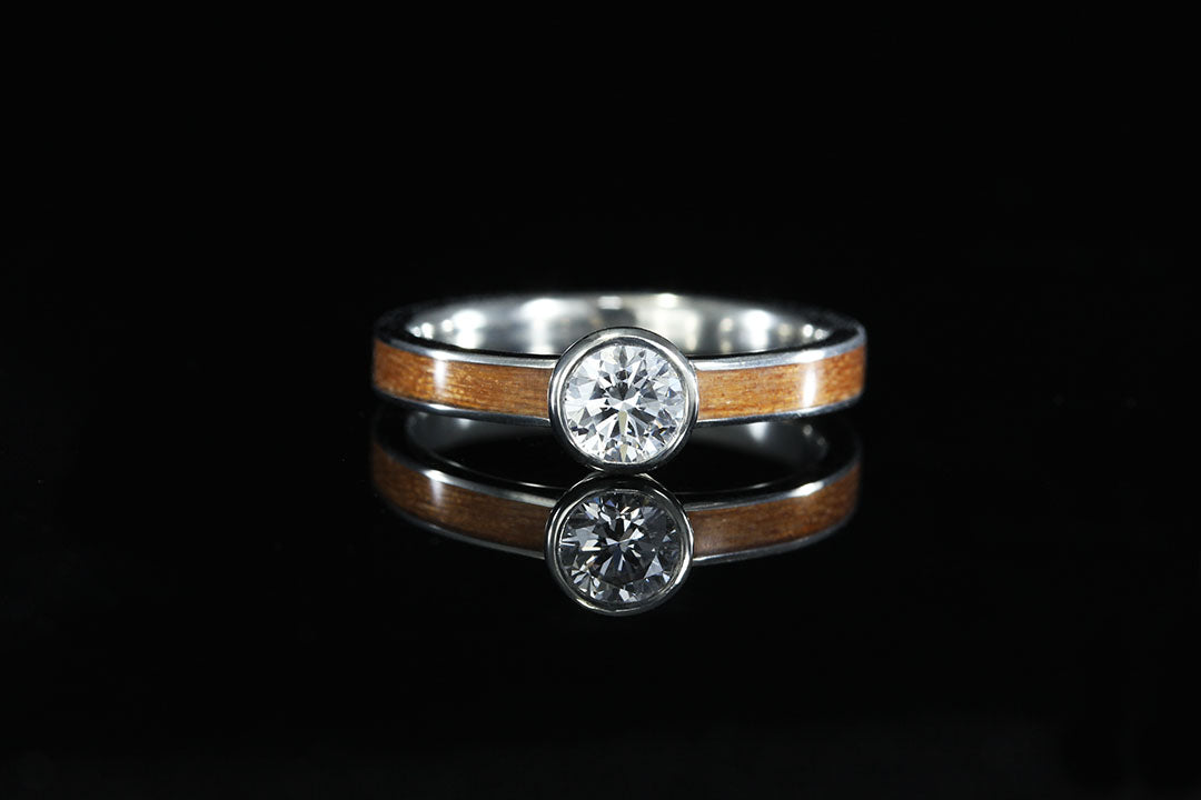 7de4f0a5b Wood Ring Collections - Diamond, Titanium and Gold - Chasing Victory