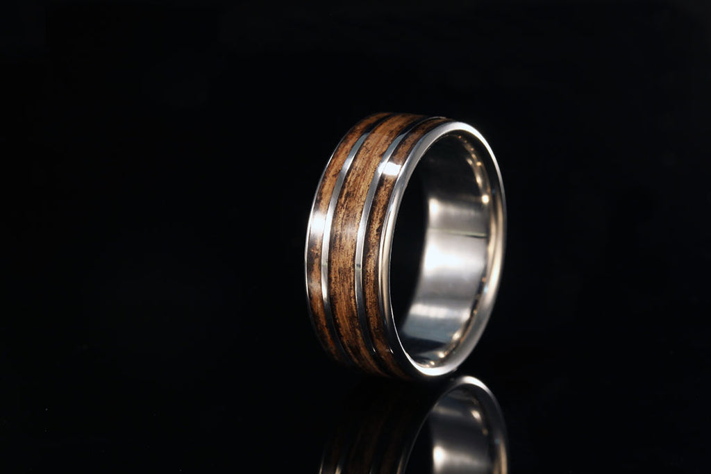 Titanium And Jack Daniel S Whiskey Barrel Ring Chasing Victory