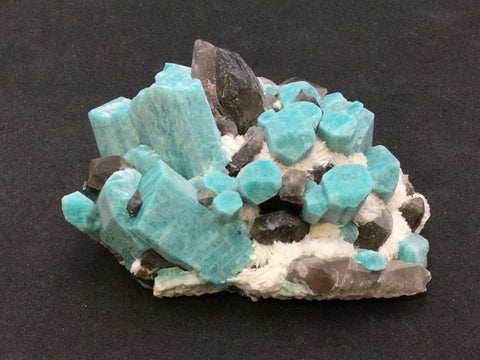 Microcline v. Amazonite, Quartz v. Smoky, Albite