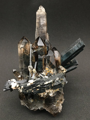 Aegirine, Quartz v. Smoky, Arfvedsonite