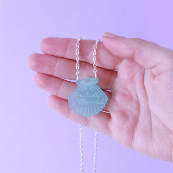 Aqua Mini Shell Necklace