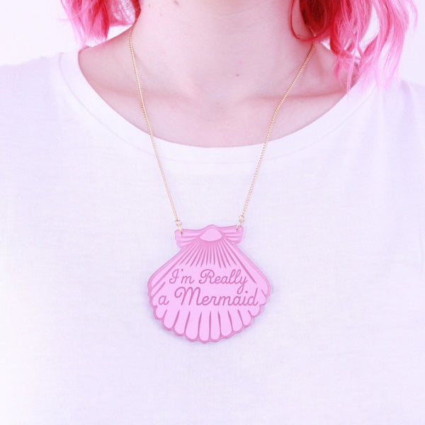 Pink Mermaid Shell Necklace