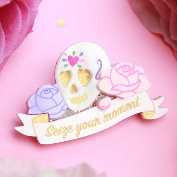 Seize Your Moment Brooch