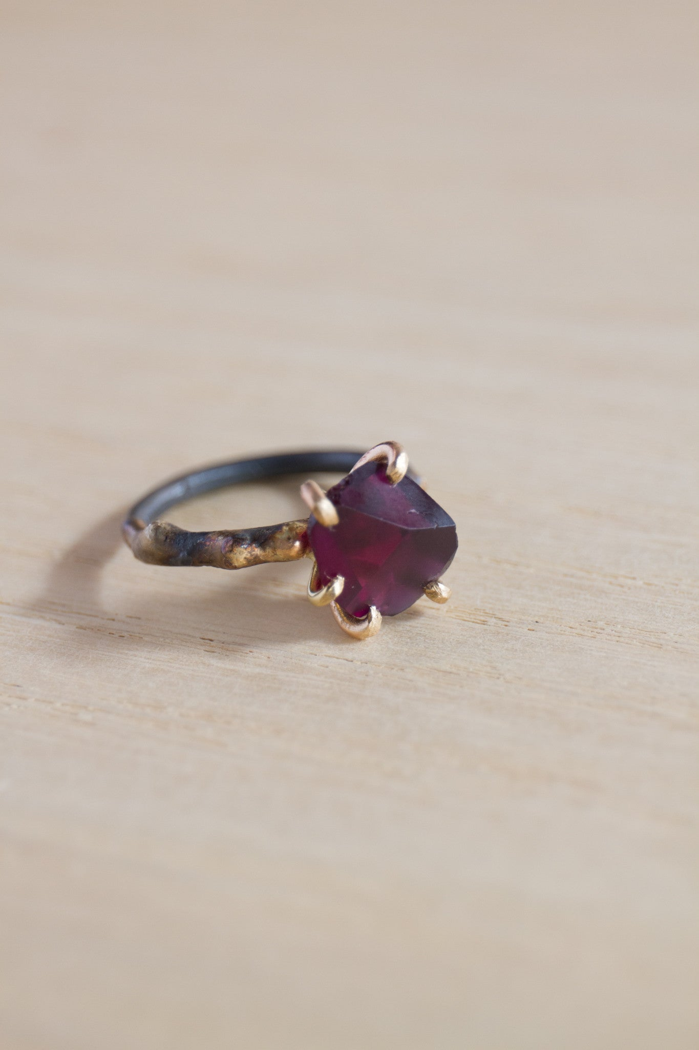 Variance Objects Garnet Ring