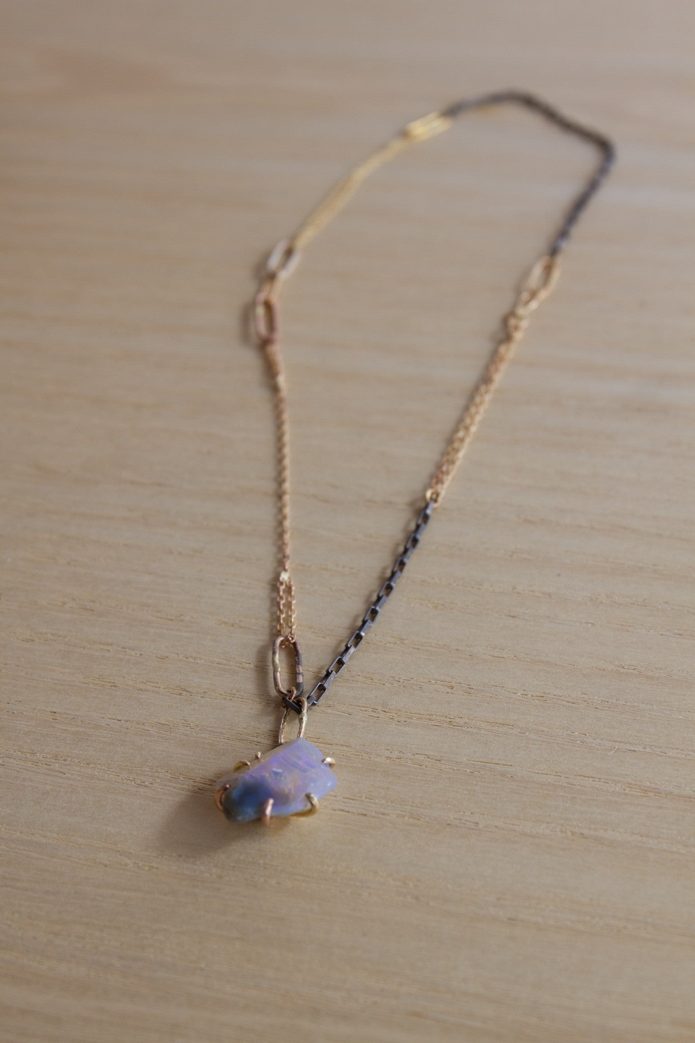 Variance Object Australian Opal necklace