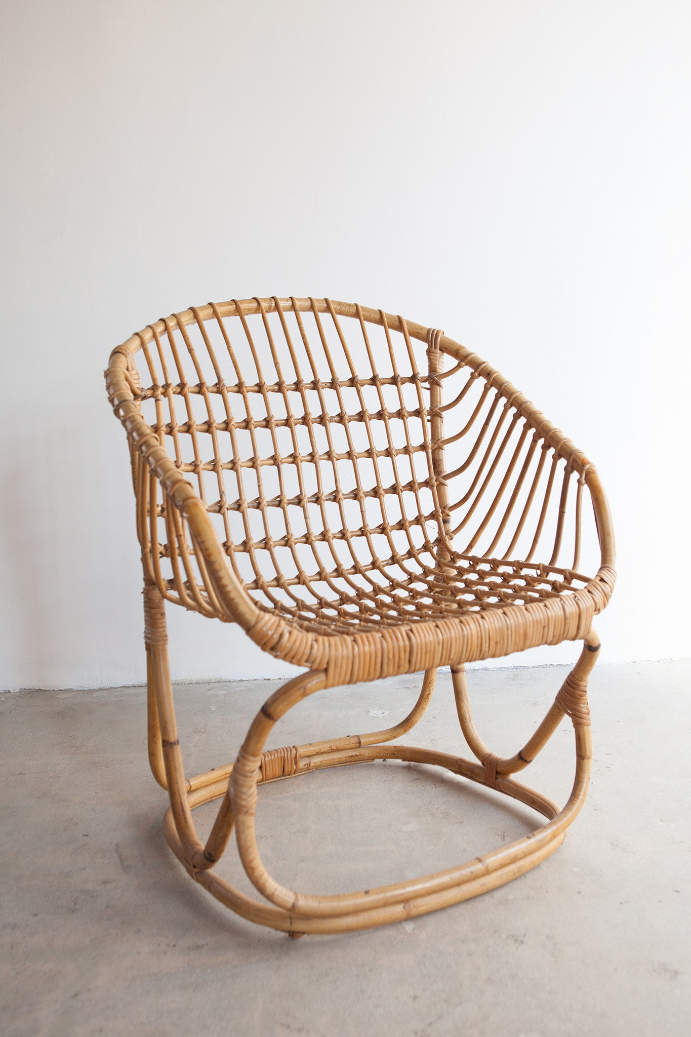 Vintage Rattan Bucket Chair SOLD OUT – MARIKOKO