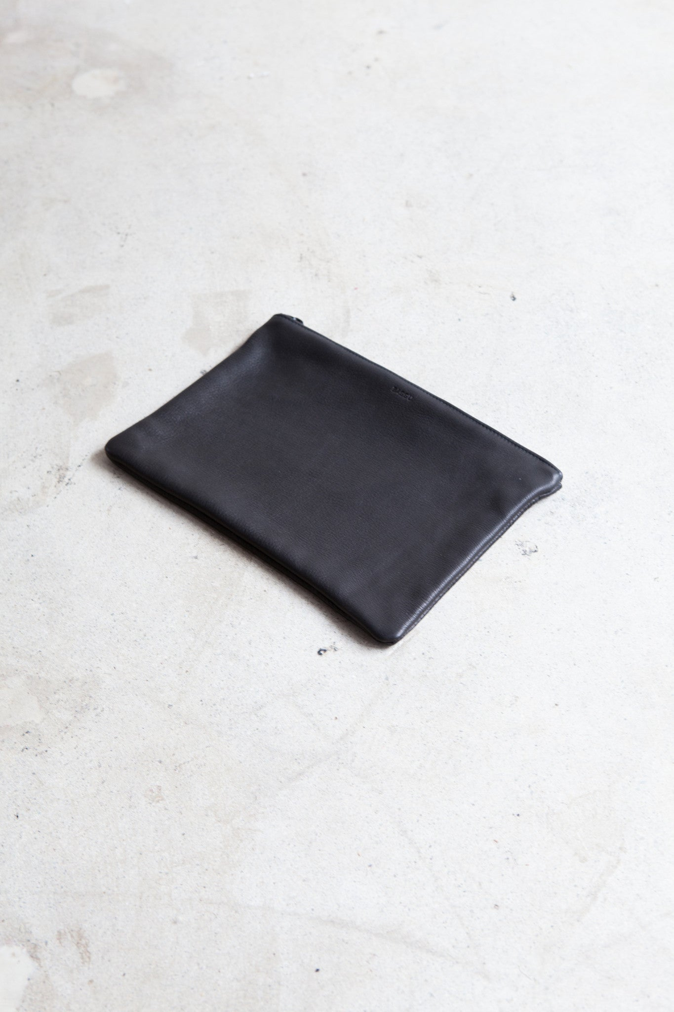 Baggu Black Leather Clutch