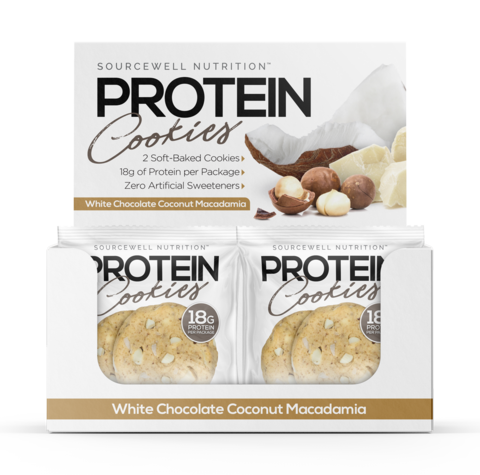 White Chocolate Coconut Macadamia Source Protein Cookie