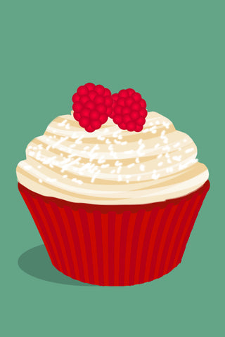 Raspberry and White Chocolate Cupcake