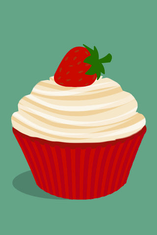 Strawberries & Cream Cupcake