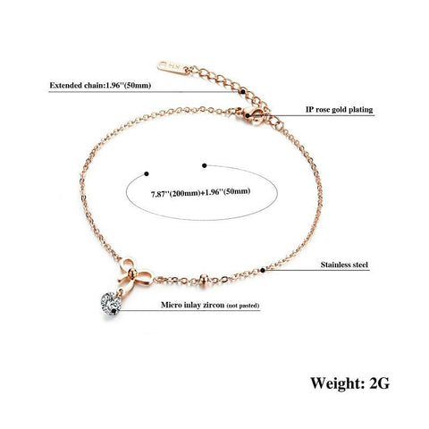 Bowknot Anklet - GiftsWizards