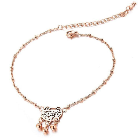 Lock Bell Anklet - GiftsWizards