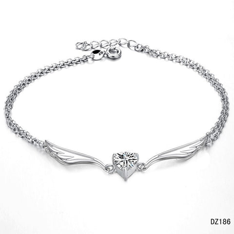Winged Heart Anklet