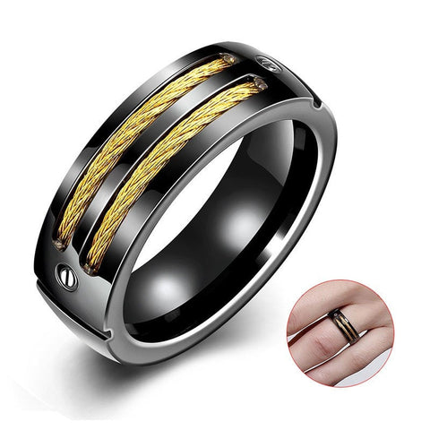 Titanium Cable Ring