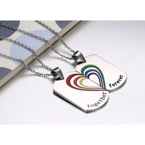 """Together Forever"" Rainbow Pendants - GiftsWizards"