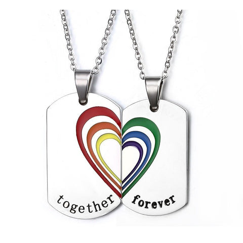 """Together Forever"" Rainbow Pendants"