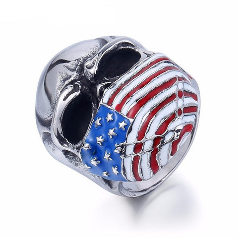US of A Flag Skull Ring - GiftsWizards