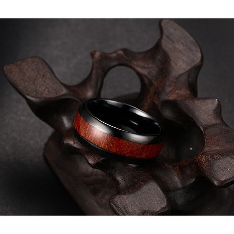 Wood & Tungsten Ring - GiftsWizards