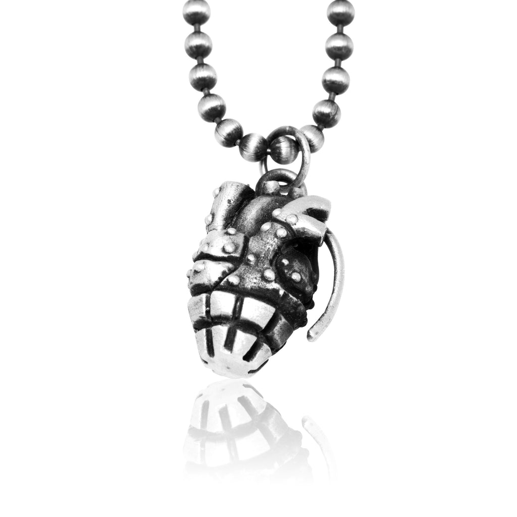 Anatomical Heart Grenade Necklace - The Stylish Man