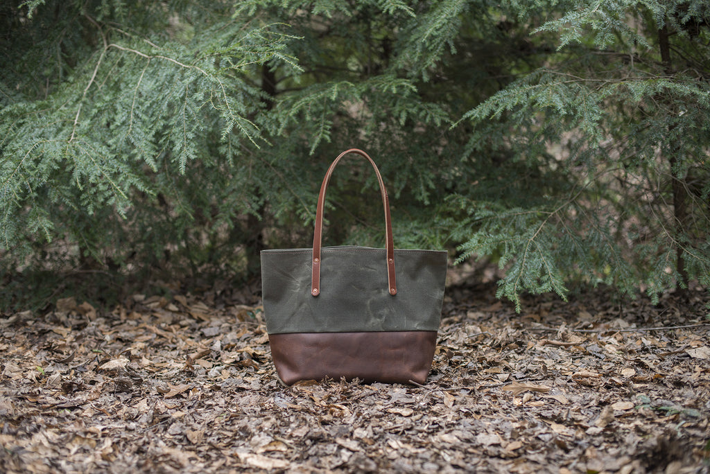 Avery Tote Bag Waxed Canvas - The Stylish Man